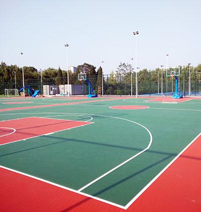 北京市朝阳区红领巾公园硅PU篮球场