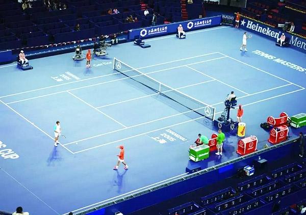 地毯网球场地