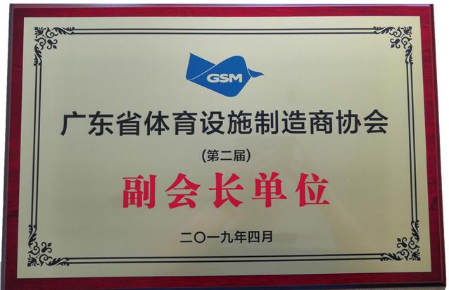 广东省体育设施制造商协会副会长单位